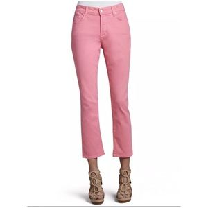 NYDJ Alisha Pink Fitted Ankle Jeans Pants